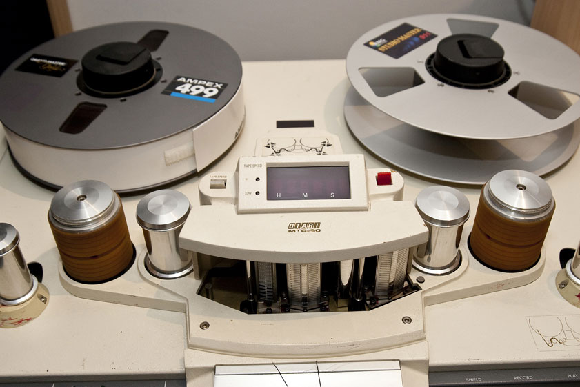 transfer your mix files to ½ inch tape via our customized Ampex ATR100 tape machine